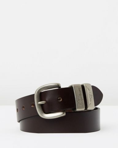 "R.M. Williams 1 1/2"" 3 Piece Solid Hide Belt - Brown"