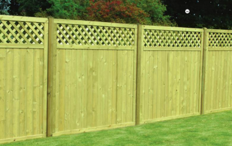 KDM Fence Panels TONGUE & GROOVE LATTIVE TOP